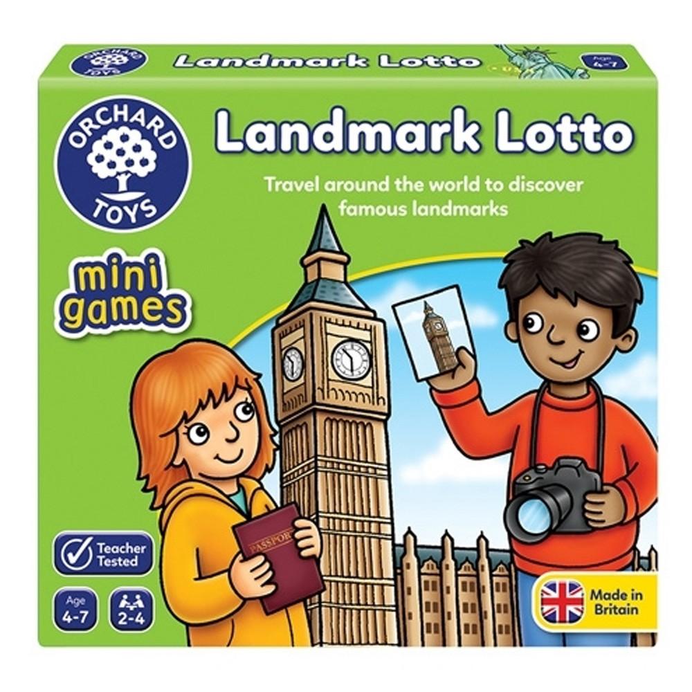 【英國Orchard Toys】可攜桌遊-世界景點大樂透