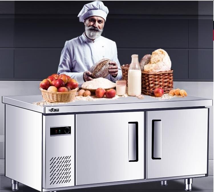 【限時下殺!】冷藏工作臺220v保鮮柜操作水吧奶茶店設備全套冷凍冰柜 冰箱