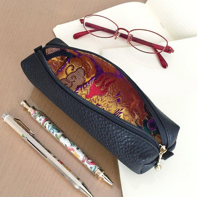 真皮和日式筆盒[Kinbane]