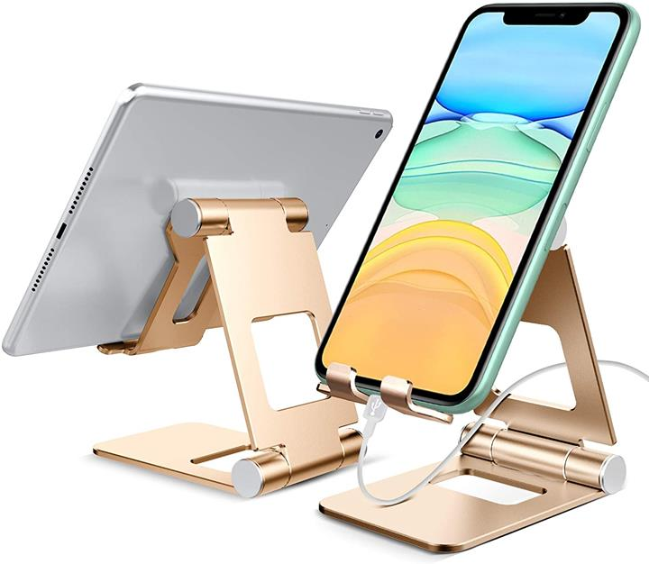 【日本代購】MSOVA平板式電動支架角度可調智慧掌上型支架 iPhone / iPad / Nintendo Switch 白 / 銀色