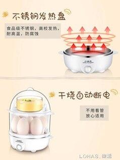 蒸蛋器自動斷電家用雙層小型早餐機蒸雞蛋多功能煮蛋器神器 聖誕節全館免運
