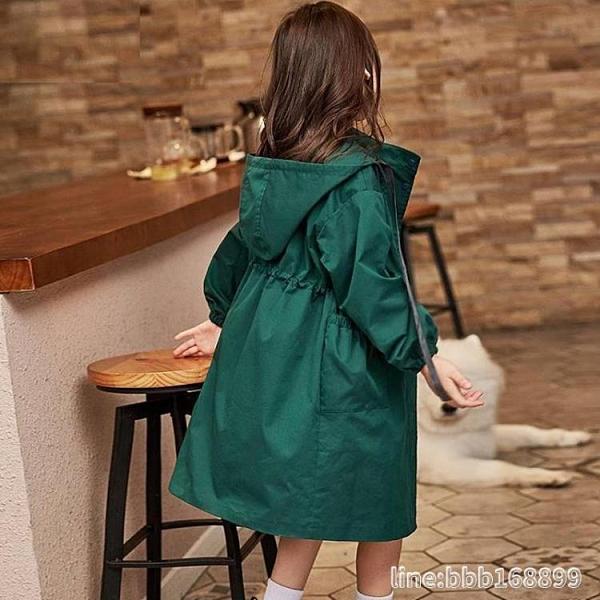 风衣外套 女童風衣兒童外套中長款加厚新款中大童秋裝女孩韓版洋氣童裝 星河光年