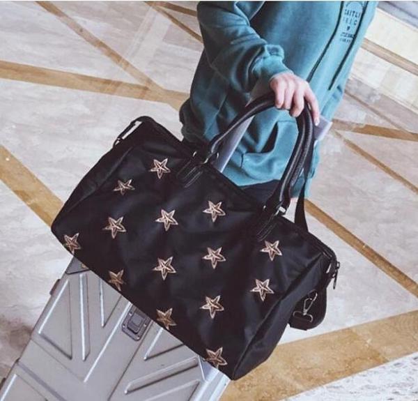旅行包女手提行李包韓版大容量短途旅游包輕便登機包防水健身包潮 向日葵