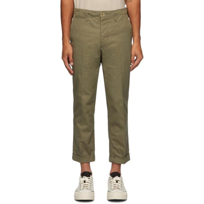 Visvim 军绿色 High Water 奇诺裤