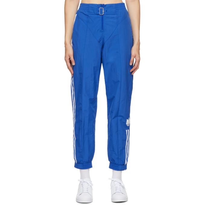 adidas Originals 蓝色 Paolina Russo 联名条纹运动裤