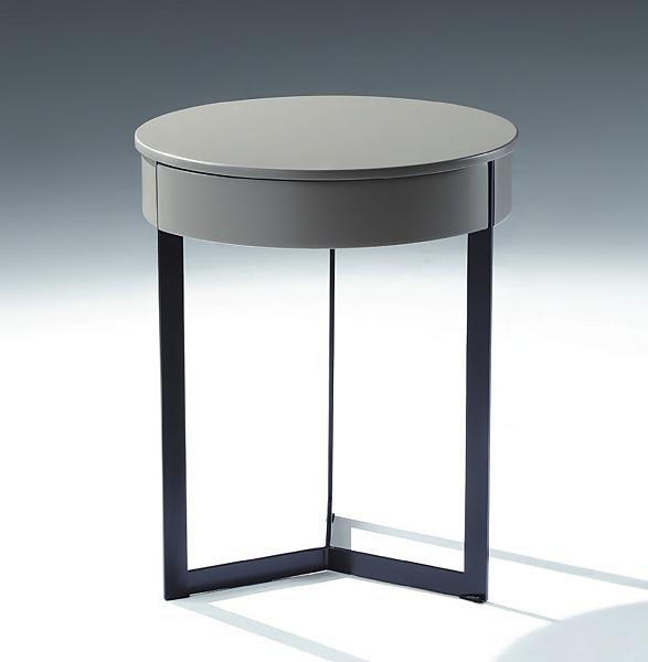 【南洋風休閒傢俱】時尚茶几系列-灰黑鐵腳2號圓几 沙發桌 咖啡桌 邊桌 CX688-12