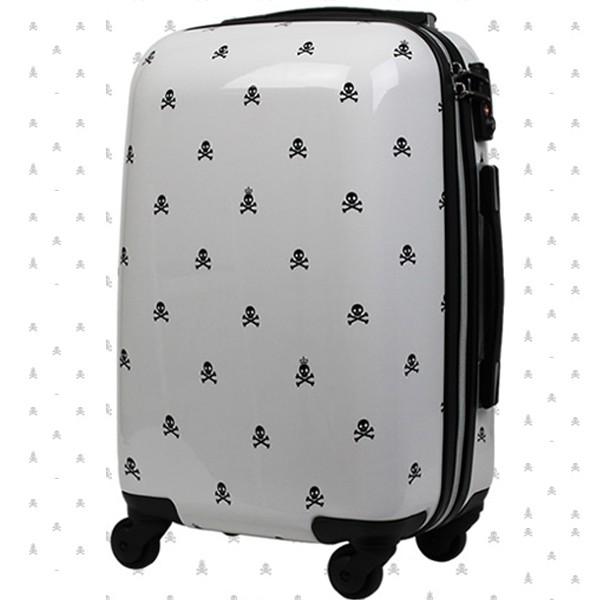 日本LEGEND WALKER 6018-55-23吋 輕量行李箱 白底黑骷髏