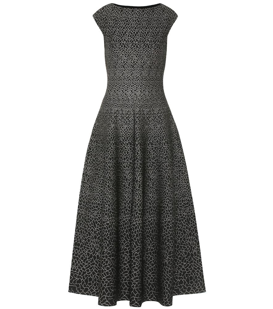 Stretch-jacquard midi dress