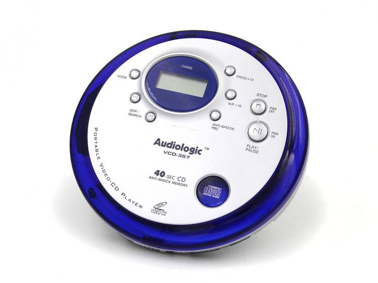 CD機 美國Audiophase 便攜式VCD機 CD隨身聽 支持英語光盤超薄cd播放機