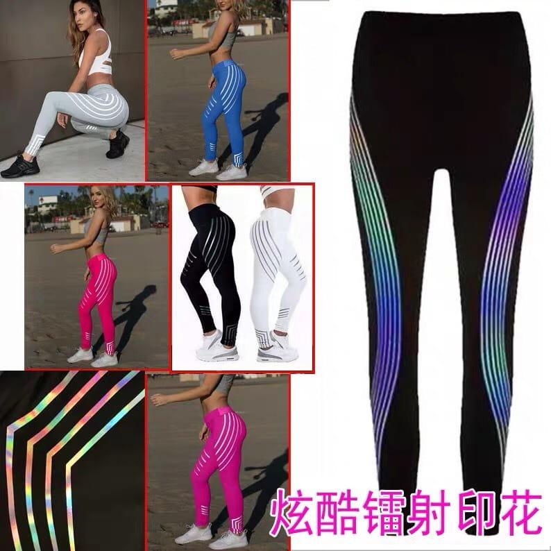 運動長褲韻律有氧跑步瑜珈-KOI 顯瘦修身 反光設計 夜跑走路安全易見有保障