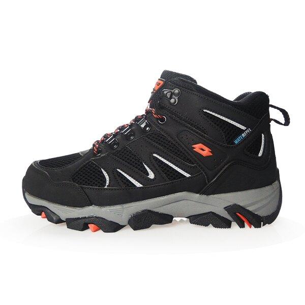 【滿額再折$100】LOTTO樂得-義大利第一品牌 男款Sabre Mid 3 戶外登山鞋 [LT9AMO1250] 黑【巷子屋】