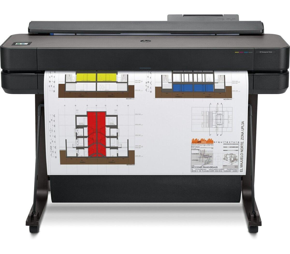 HP Designjet T650 36吋 A0彩色噴墨CAD繪圖機(5HB10A)