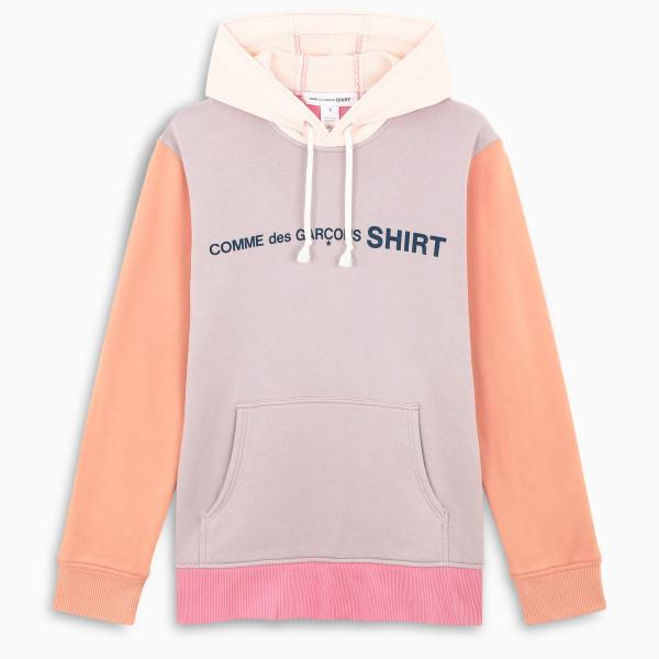 Comme des Garçons Shirt Logoed colour block hoodie