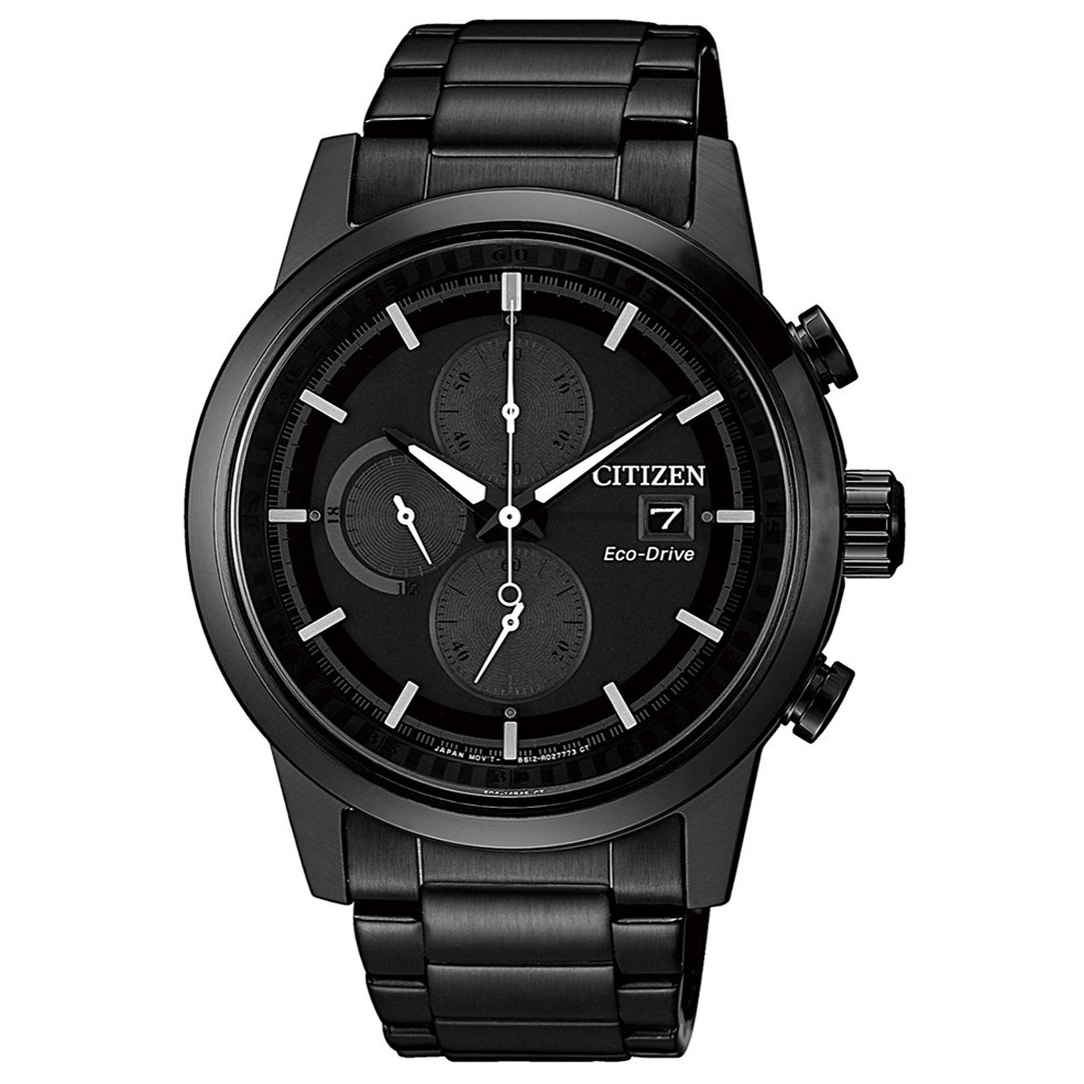 CITIZEN星辰 Chronograph CA0615-59F 光動能三眼計時腕錶