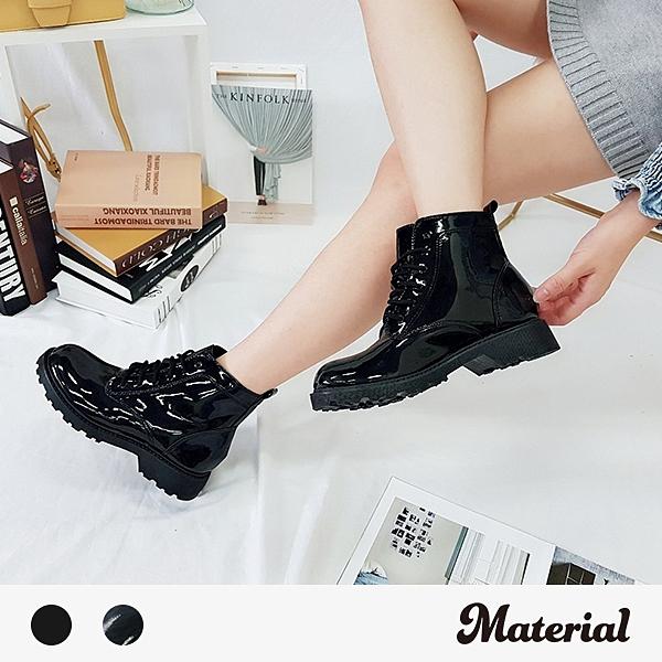 短靴 時尚簡約綁帶短靴 MA女鞋 T2078
