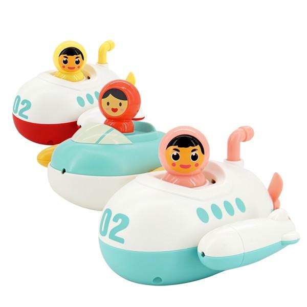 兒童洗澡戲水玩具 寶寶浴室漂浮潛水艇發條噴水玩具 雪倫小舖【KON2052】
