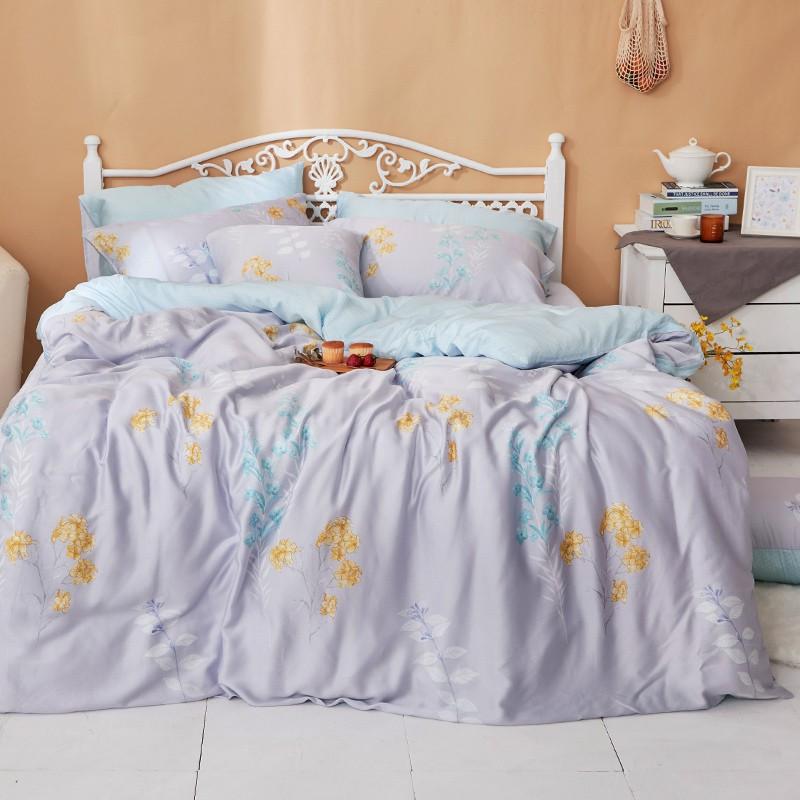 戀家小舖 100%天絲【珊朵拉】床包兩用被套組 40支天絲 含枕套 台灣製