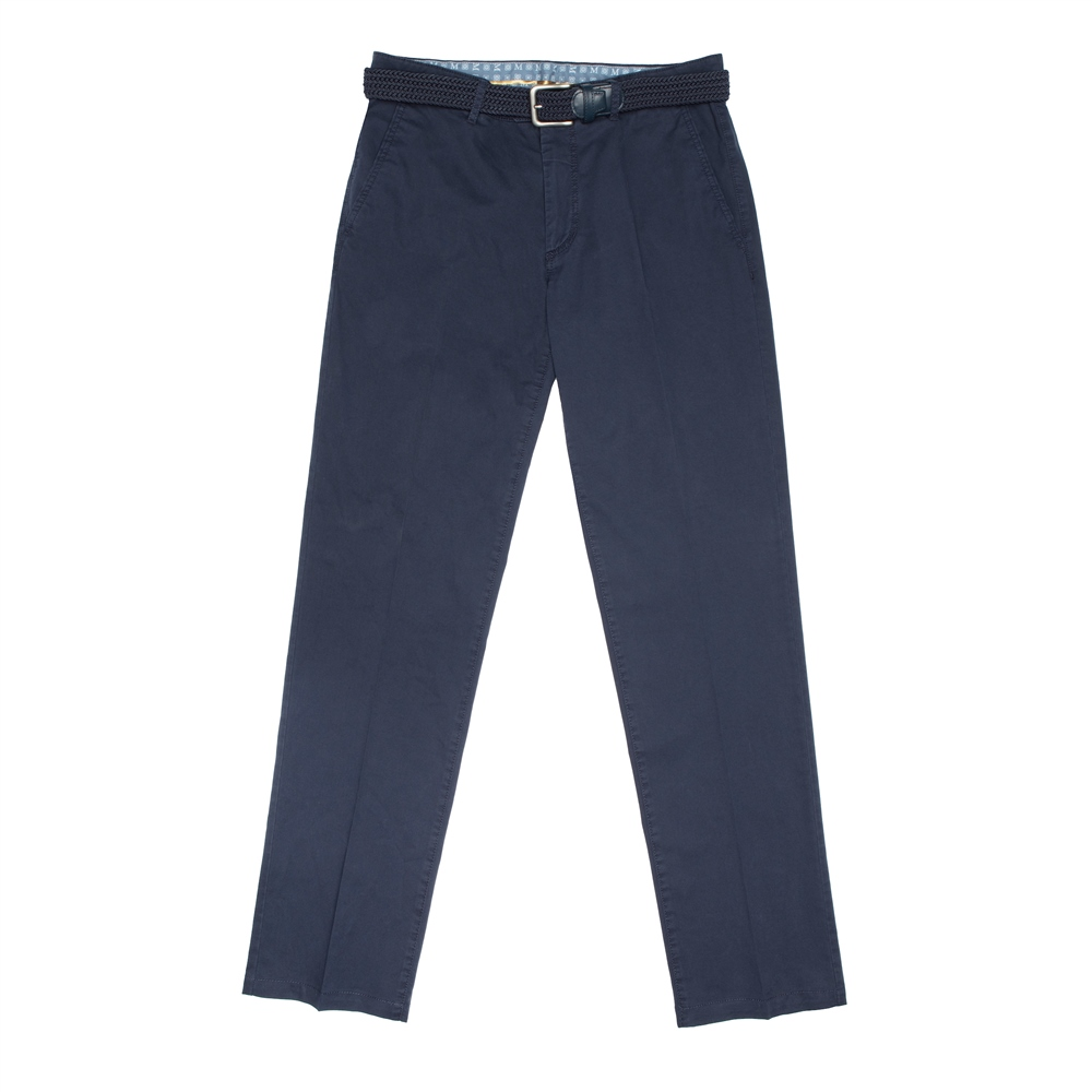 Magee 1866 Midnight Navy Dungloe Classic Washed Classic Fit Trousers