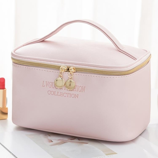 網紅化妝包便攜防水大容量收納包簡約日系少女化妝品手提袋洗漱包 童趣潮品