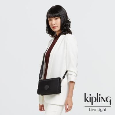 Kipling 低調沉穩黑單肩隨身斜背包-RIRI