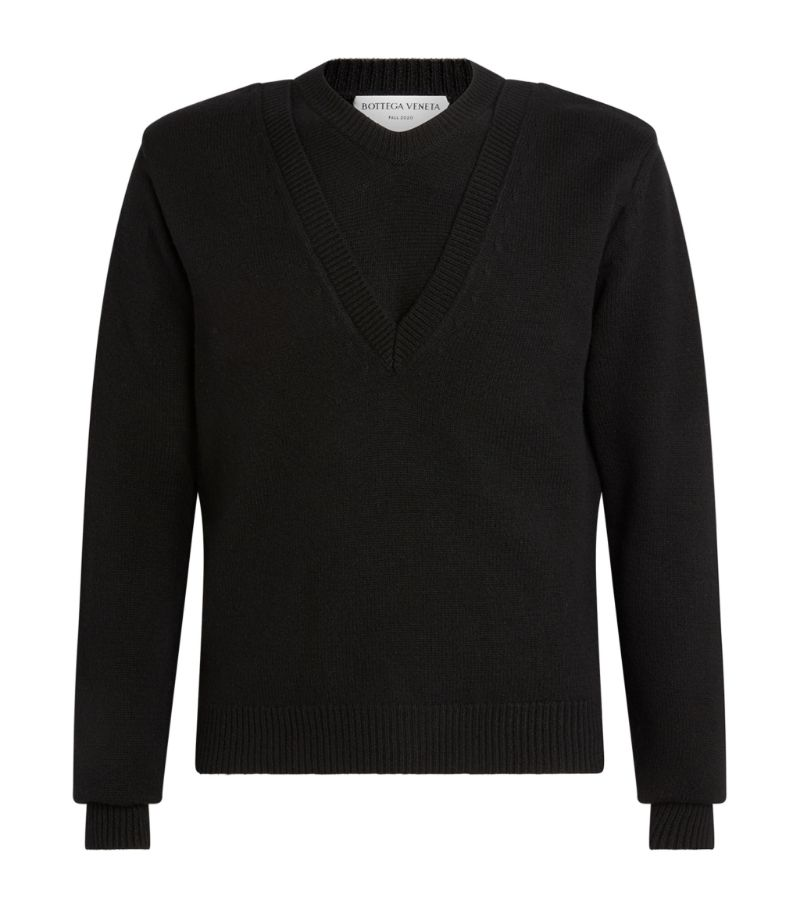Bottega Veneta Double V-Neck Sweater