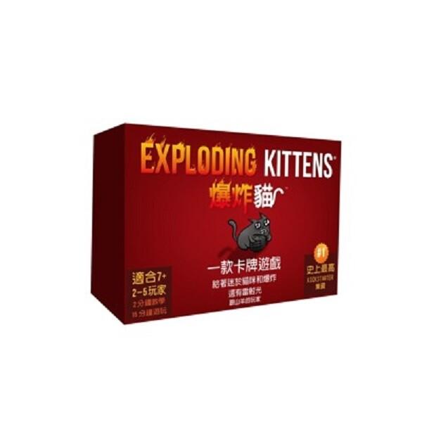 送薄套 爆炸貓 exploding kittens 繁體中文 正版桌遊 含稅附發票 實體店面