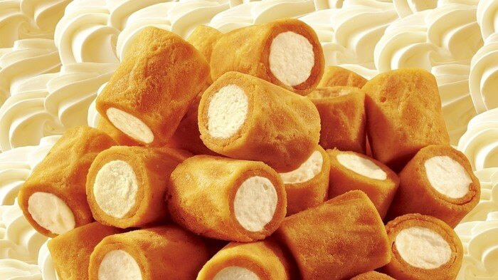 【江戶物語】 glico 固力果 卡龍 牛奶捲心酥 11袋入 Cream Collon 牛奶風味 可龍捲心酥 日本進口