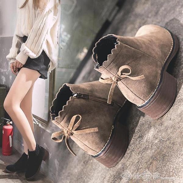 短靴 馬丁靴女英倫風女鞋新款2020年秋鞋百搭切爾西網紅秋季瘦瘦短靴子 西城
