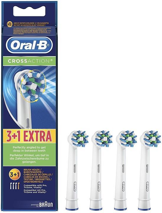 【日本代購】博朗 Oral B 更換刷多動作刷 CROSS ACTION 4件 EB50-4EL