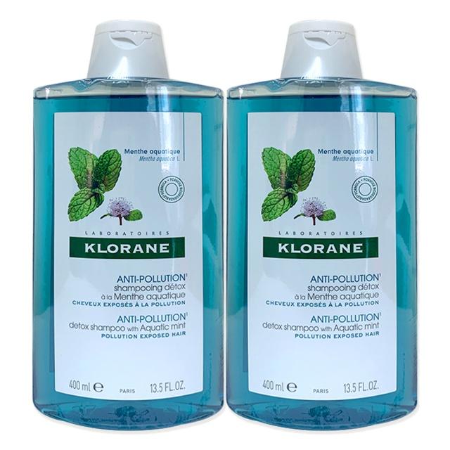 KLORANE 蔻蘿蘭 涼感淨化洗髮精 400ml x 2