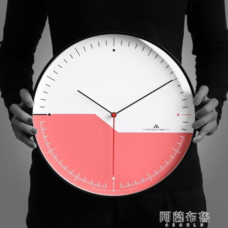【免運】掛鐘 Aniok 輕奢客廳掛鐘家用臥室超靜音鐘錶個性創意藝術掛錶裝飾時鐘 MKS阿薩布魯