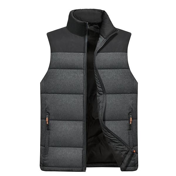 馬夾外套中老年保暖加厚背心坎肩爸爸冬裝休閒羽絨棉中年男士馬甲 創意新品