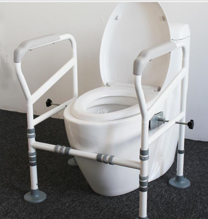 馬桶扶手衛生間老人廁所起身助力架子 浴室免打孔坐便器安全欄桿  新年鉅惠 台灣現貨