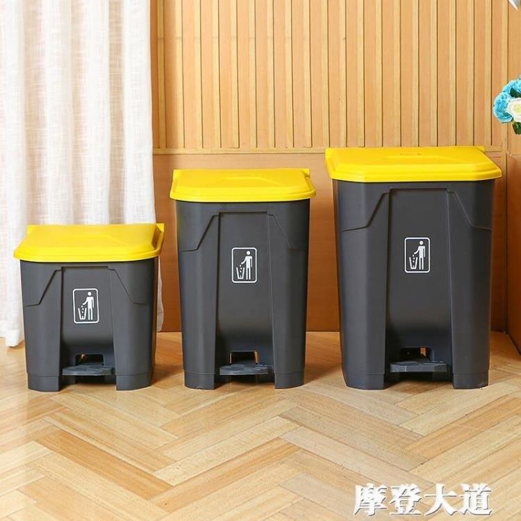 大垃圾桶大號腳踩腳踏式戶外環衛商用帶蓋家用廚房分類垃圾箱  樂樂百貨