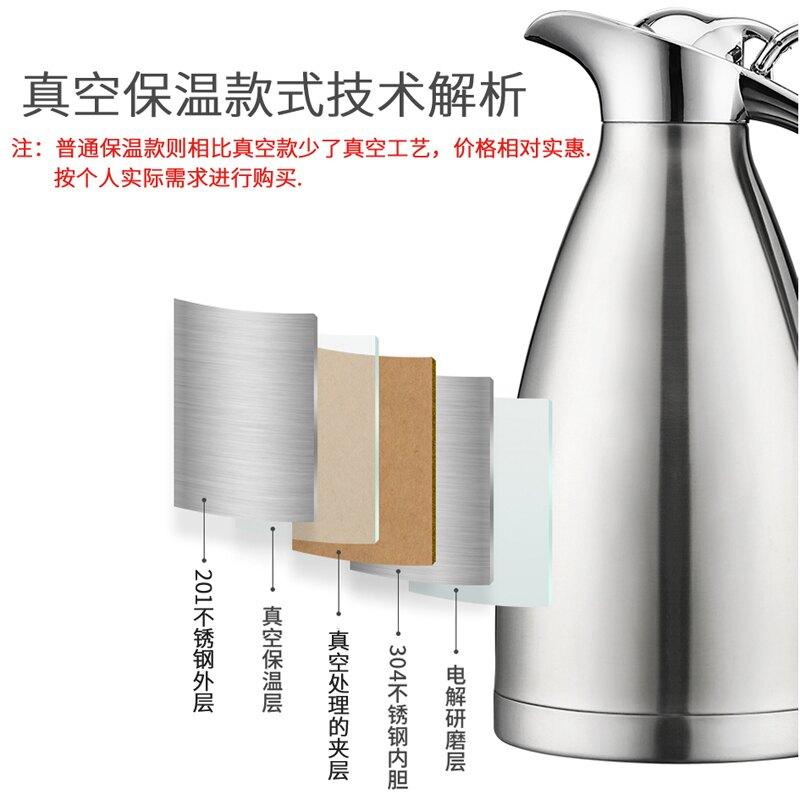 加厚保溫壺家用大容量保溫瓶不銹鋼真空壺熱水壺暖水瓶客廳暖壺2L
