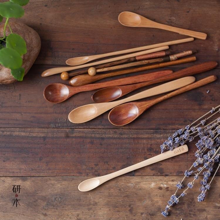 攪拌棒攪拌棒 咖啡勺 長柄木勺蜂蜜木質勺 手工調色棒原木棒創意奶茶勺-凡屋 清涼一夏钜惠