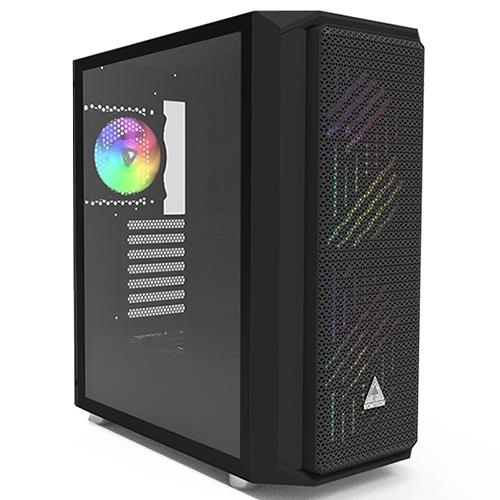 MONTECH 君主 AIR X ARGB 強化玻璃側板 ATX 電腦機殼 黑色 預裝ARGB風扇前2後1 /紐頓e世界