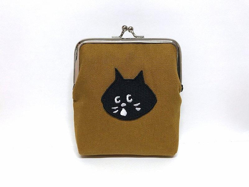 限量款  北歐風口金 口金包 / 零錢包 -- 哇黑貓