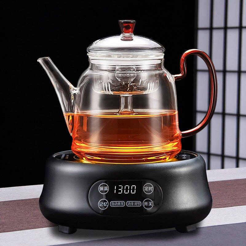 茶具 電陶爐煮茶玻璃蒸茶壺蒸汽套裝蒸餾加厚燒水養生壺茶爐家用茶具【DD5074】