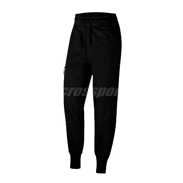 Nike 長褲 NSW Tech Fleece Pants 黑 灰 女款 縮口褲 運動休閒 【ACS】 CW4293-010