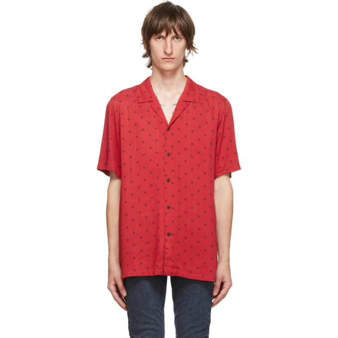 Ksubi 红色 Star 短袖衬衫