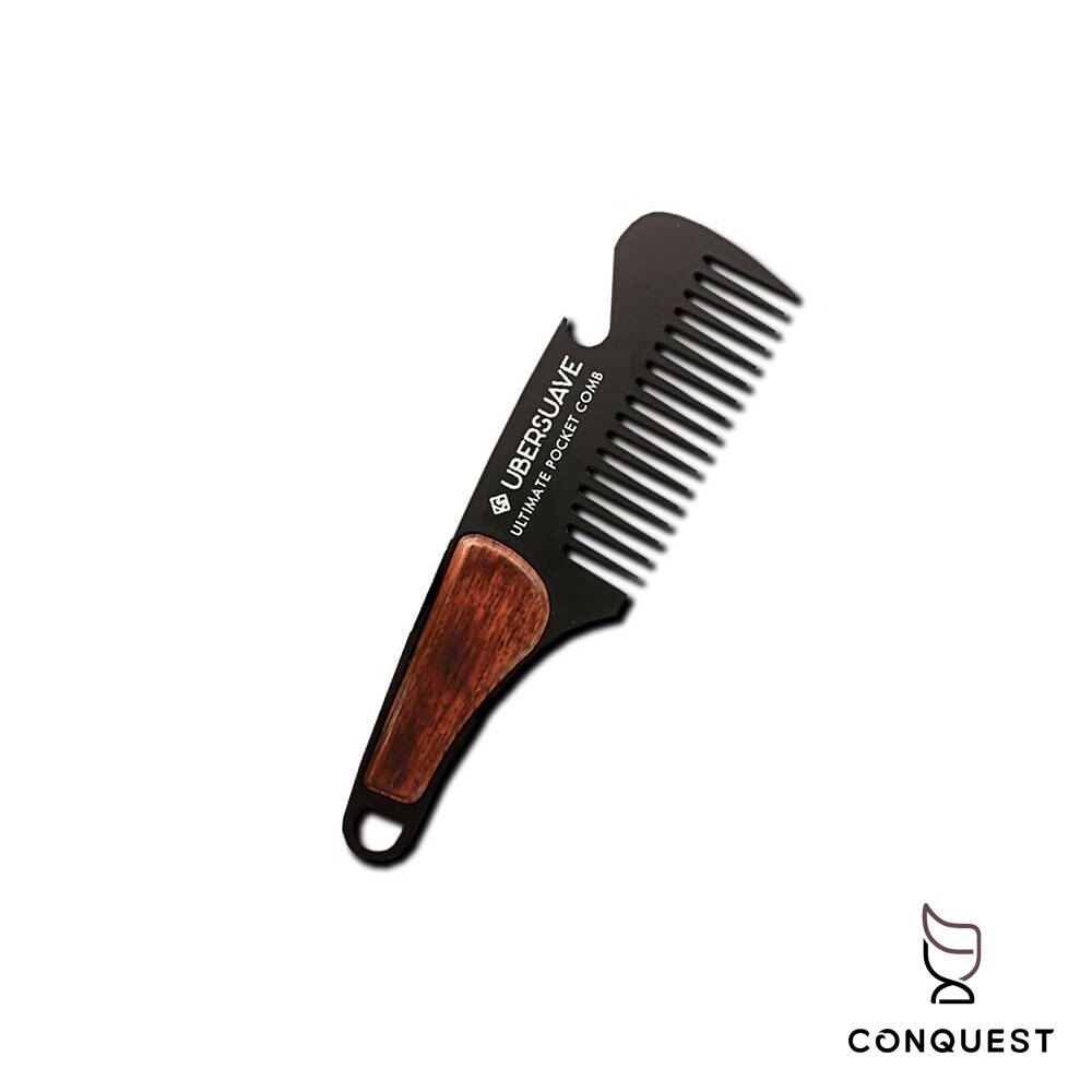 【 CONQUEST 】UBERSUAVE Ultimate Pocket Comb 兩用口袋梳 梳子 開瓶器口袋梳