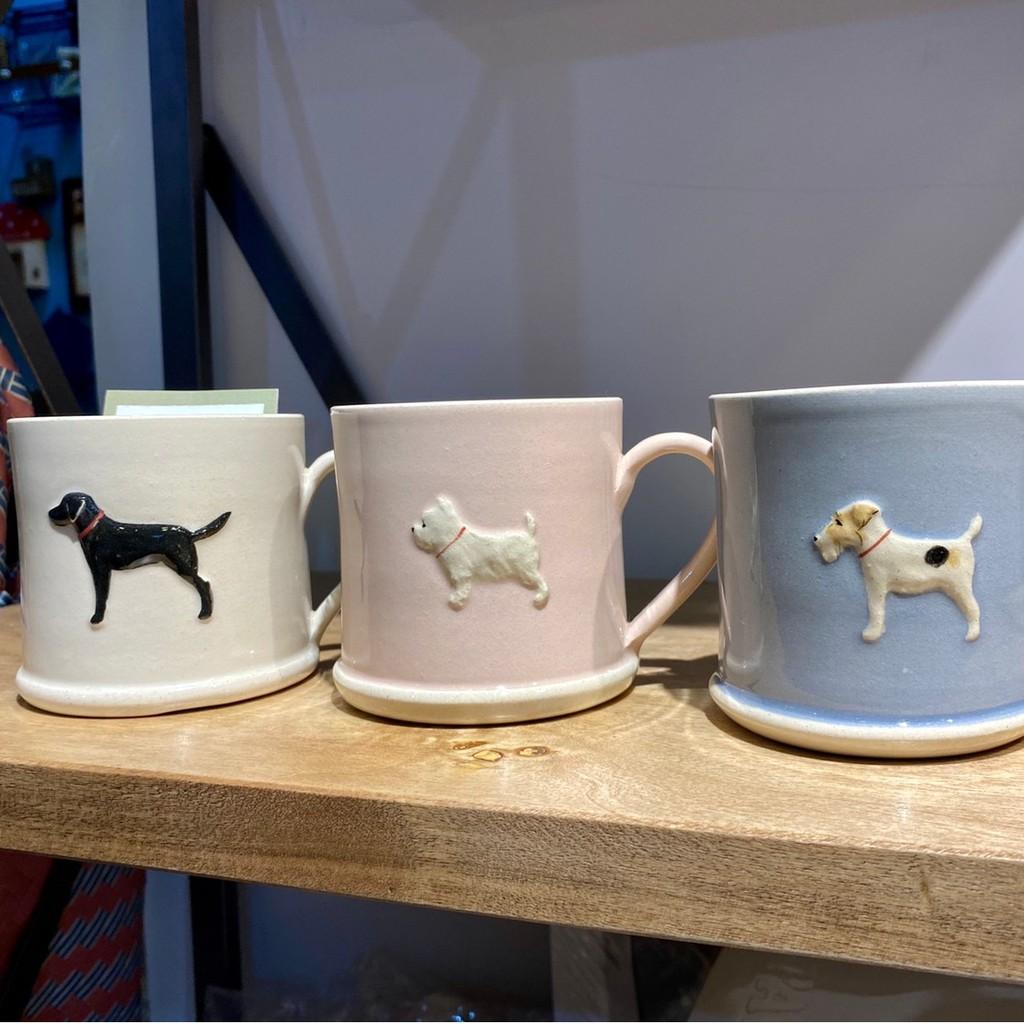 《齊洛瓦鄉村風雜貨》英國純手工彩繪狗狗造型馬克杯 小狗手工陶瓷咖啡杯 狗狗手工拉胚茶杯 水杯
