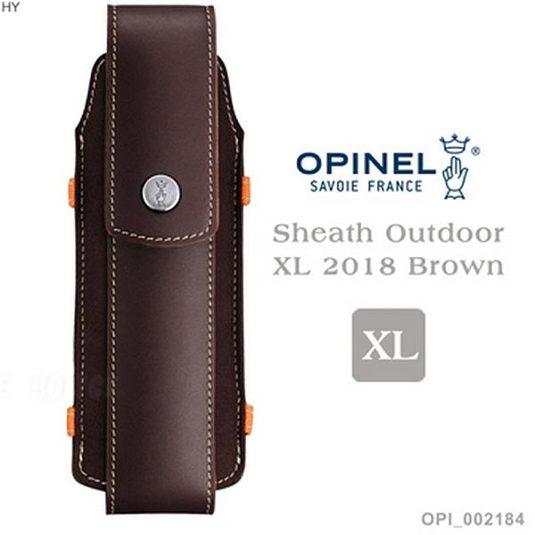法國OPINEL Sheath Outdoor XL 2018 Brown XL號戶外皮革套(公司貨)#002184