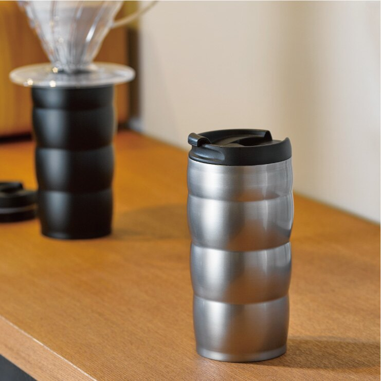 HARIO 真空不鏽鋼隨行杯–黑色 350ml/VUW-35B