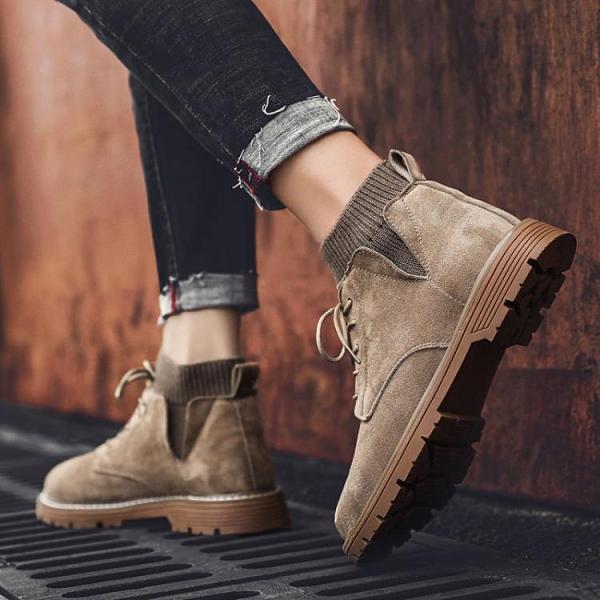 馬丁靴男士工裝靴英倫風短靴冬季雪地棉鞋中幫秋季高幫男鞋子潮鞋 酷男精品館