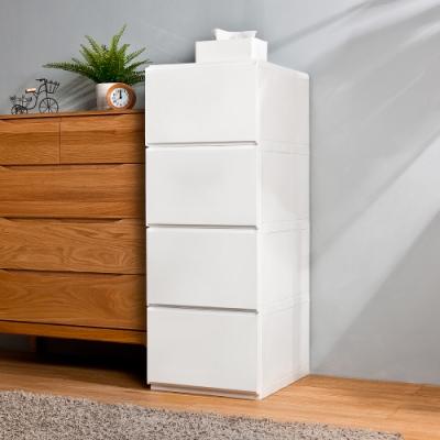 HOUSE 台灣製 大栗子純白無印風4層抽屜式收納櫃