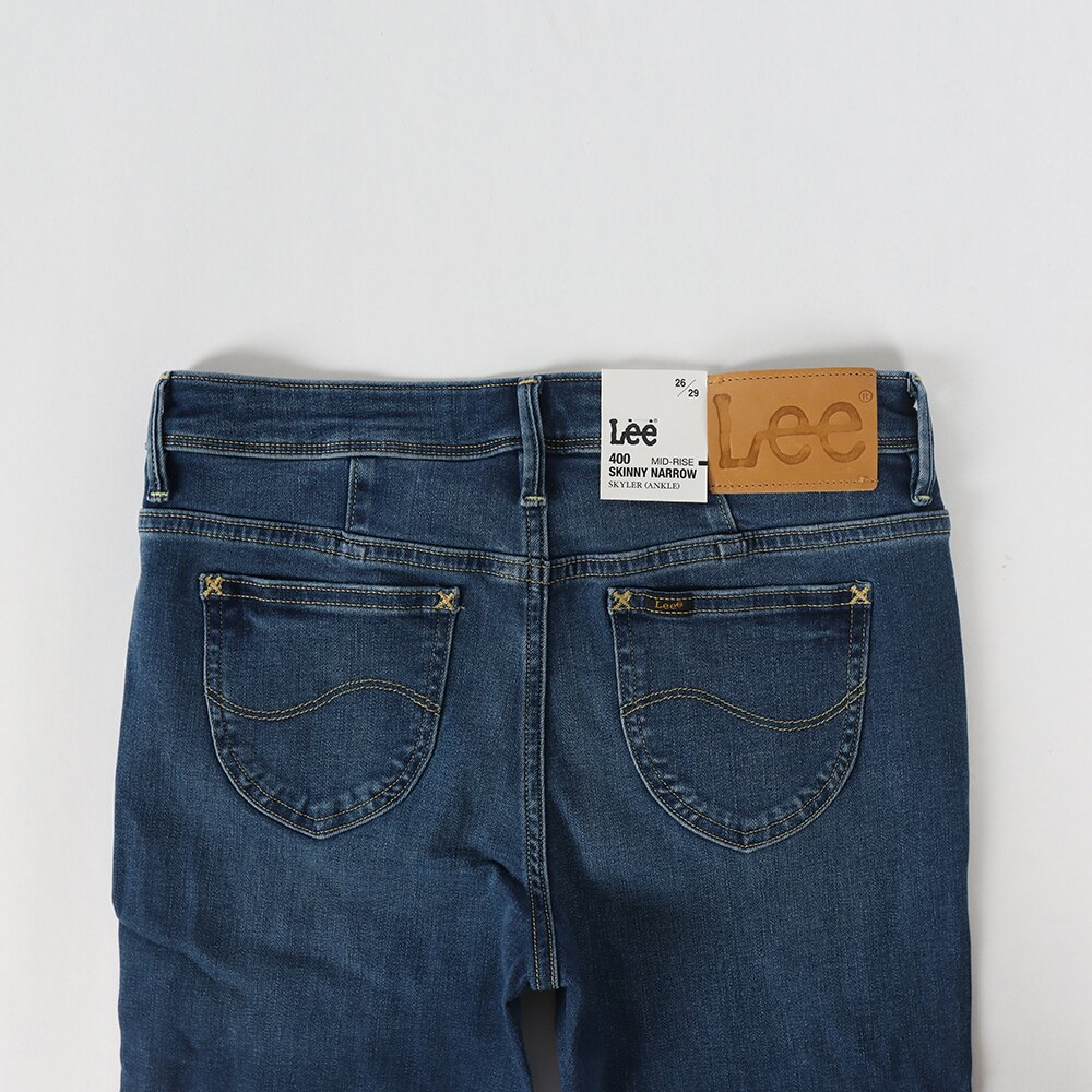 Lee 400 中腰貼身窄管牛仔褲 RG 女款 淺藍