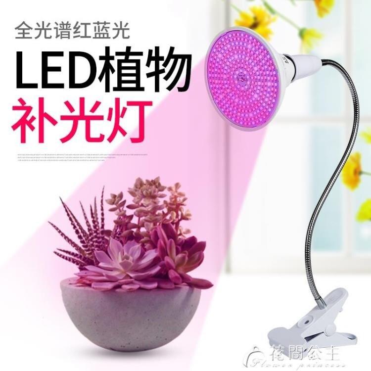 植物補光燈-E27螺口LED植物生長燈室內花卉多肉紅藍植物照臉補光燈帶夾子燈座   YYS 聖誕節禮物