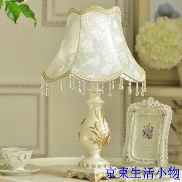 特惠 歐式 創意 臥室床頭田園簡約新婚慶禮物裝飾檯燈具(貴族-不贈送燈泡)